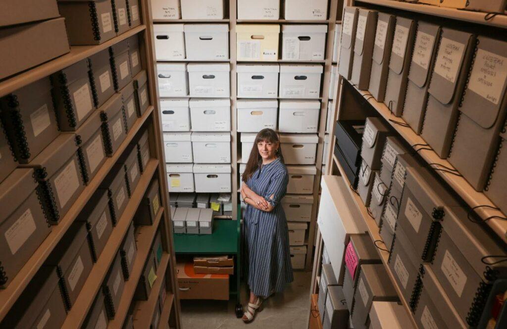 Rachel Lyons is the archivist for the Jazz & Heritage Foundation. Photo by Brett Duke, Nola.com