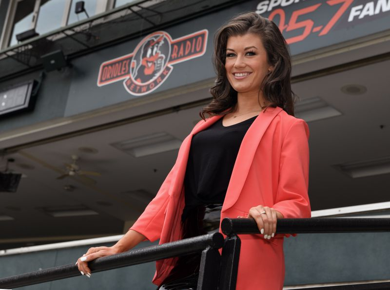 Orioles radio announcer Melanie Newman, the the first woman in team history to be a play-by-play announcer, will call the play-by-play during Tuesday's Orioles-Rays game, which will make history as MLB's first all-female broadcast. (Kenneth K. Lam)