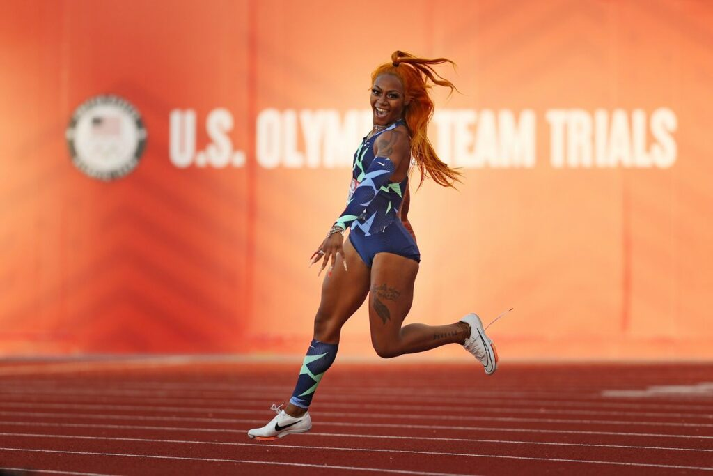 Sha'Carri Richardson was left off the Olympic team named Tuesday by USA Track & Field. PHOTO: PATRICK SMITH/GETTY IMAGES